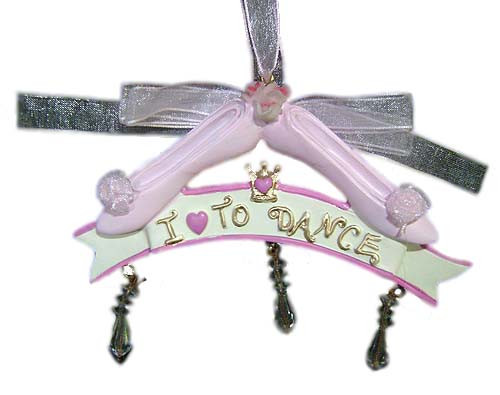 I Love To Dance Pink Ballet Shoes Christmas Ornament #J4186 - 5995041
