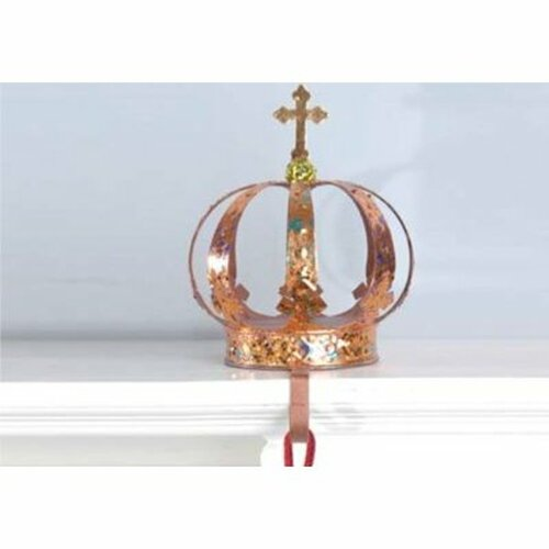 """9.5"""" Copper and Gold Royal Crown Christmas Stocking Holder - 31301459"""
