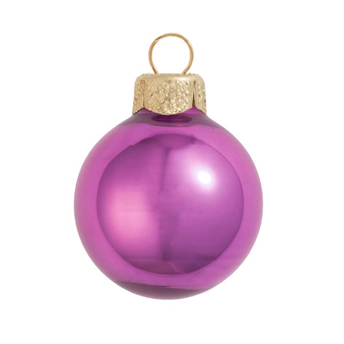 """Pearl Dusty Rose Pink Glass Ball Christmas Ornament 7"""" (180mm) - 30940221"""