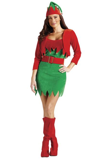 Elfalicious Sexy Elf Christmas Costume - Women's Size Small/Medium (2-8) - 21379677
