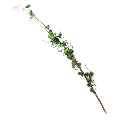 """Sugared Fruit Decorative Green Silk Floral Craft Spray with Glitter Accents 33"""" - 11213601"""