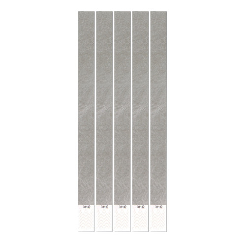 """Club Pack of 600 Solid Colored Fossil Gray Tyvek Party Wristbands 10"""" - 31560673"""
