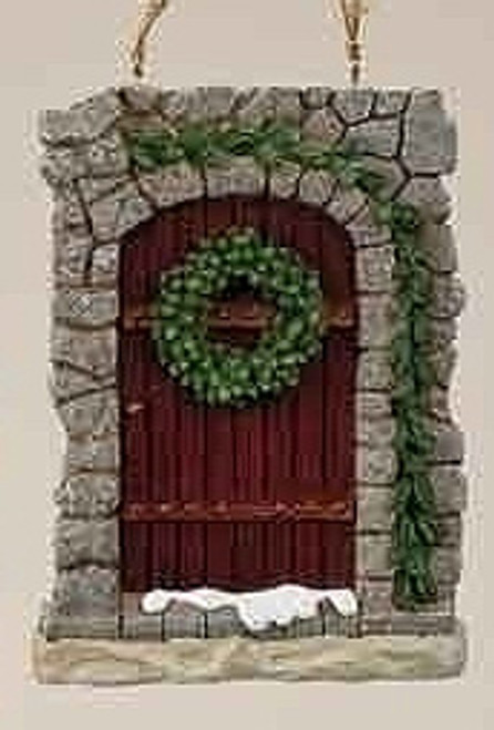 """Christmas Garden """"All Hearts Come Home"""" Stone Door Ornament with Wreath - 16457783"""