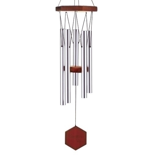 """26"""" Carillon Melody Hand-Tuned Triple Sealed Elm Wood Diamond Line Wind Chime - 28886187"""