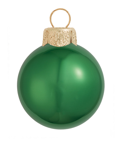 "6ct Pearl Green Xmas Glass Ball Christmas Ornaments 4"" (100mm) - 30939876"