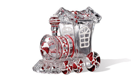 "Pack of 4 Icy Crystal Animated Decorative Train Candy Jars 7.3"" - 31002137"