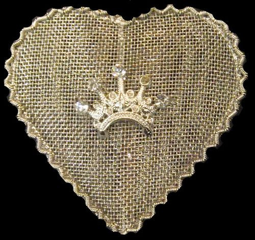"""Set of 5 Crowned Wire Mesh Small Hanging Heart Christmas Ornaments 2.5"""" - 31010464"""
