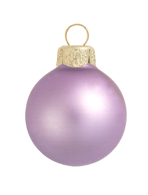 "28ct Matte Soft Lavender Purple Glass Ball Christmas Ornaments 2"" (50mm) - 30939578"