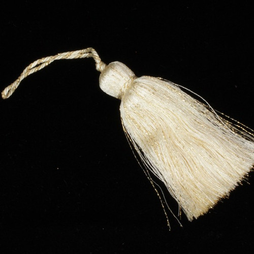 """Pack of 24 Bunches of Cream Gold Metallic """"Mary"""" Tassels 4"""" - 31391680"""