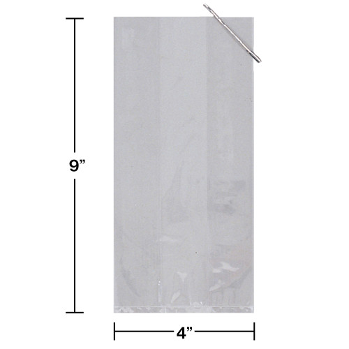 Pack of 240 Small Clear Holiday & Wedding Cellophane Treat Goodie Bags with Ties - 31008788