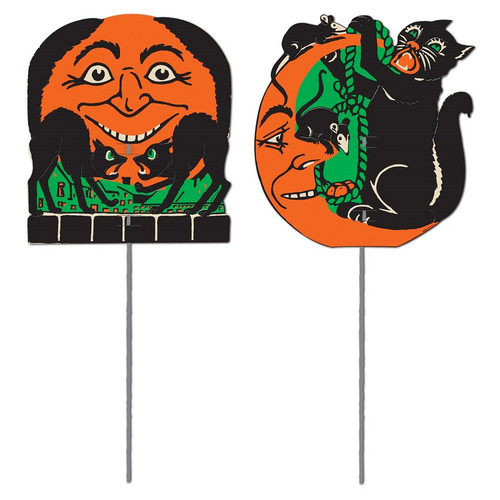 "Club Pack of 24 Scratch Cat Outdoor Garden Yard Sign Halloween Decorations 5.5"" - 31559919"