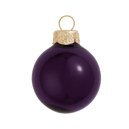 "28ct Shiny Purple Glass Ball Christmas Ornaments 2"" (50mm) - 30939549"