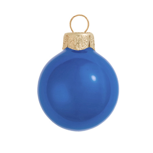 "Pearl Blue Delft Glass Ball Christmas Ornament 7"" (180mm) - 30940204"