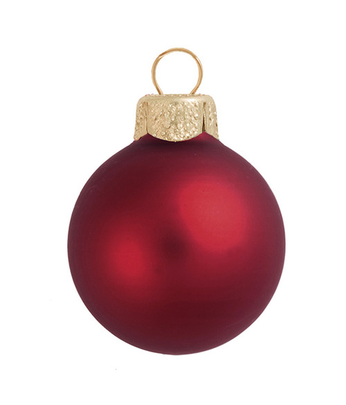 """2ct Matte Burgundy Red Glass Ball Christmas Ornaments 6"""" (150mm) - 30940090"""