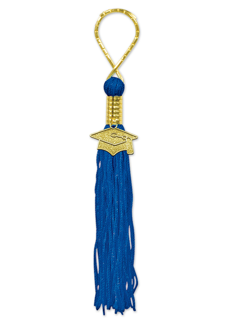 "Pack of 6 Blue Graduation Tassel with Cap Medallion Key Chains 5.5"" - 31560038"