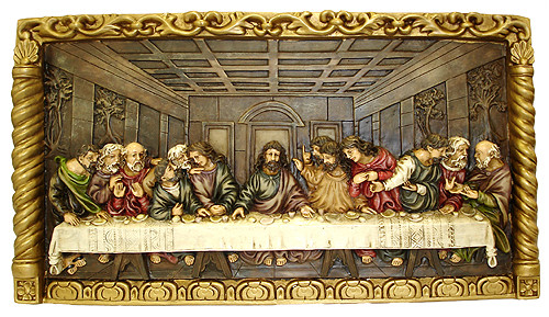 "22"" Inspirational Hand-Painted Jesus ""The Last Supper"" Religious Wall Plaque - 14418893"