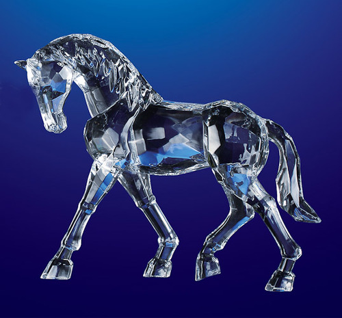 "Pack of 4 Icy Crystal Decorative Horse Figurines 6.5"" - 31002251"