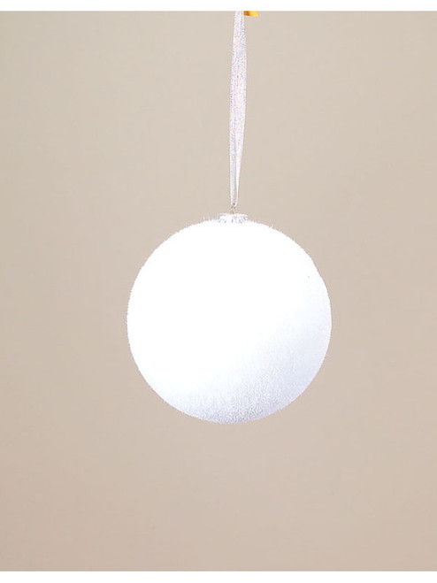 "Pack of 6 Richest Winter Small White Snowball Christmas Ornaments 6"" - 12500012"