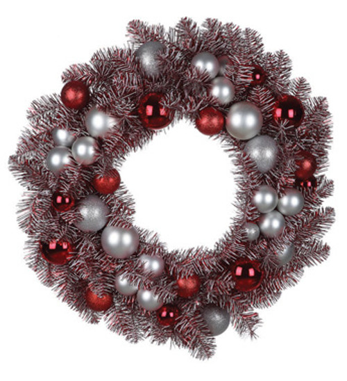 """29"""" Artificial Red Peppermint Candy Colored Decorated Christmas Wreath- Unlit - 31084623"""