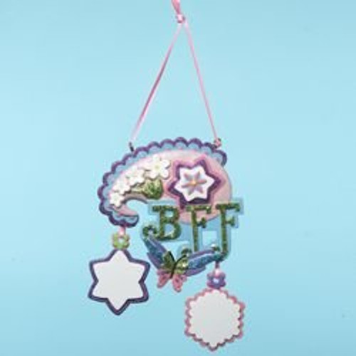"""Tween Christmas """"BFF"""" Floral & Butterfly Ornament to Personalize 4.5"""" - 11149714"""