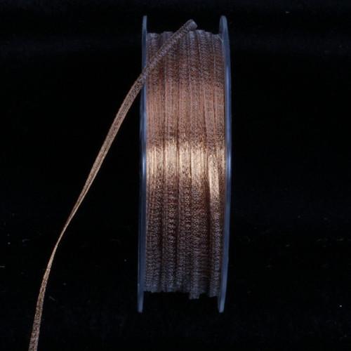 Sheer Metallic Copper Craft Ribbon 3.2mm x 200 Yards - 31388159