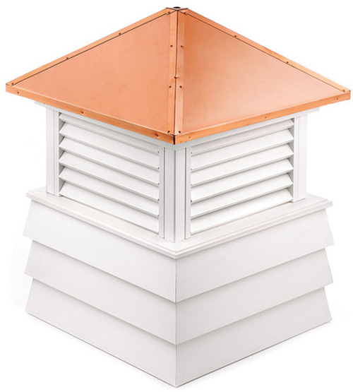 "44"" Handcrafted ""Dover"" Copper Roof Vinyl Cupola - 9449907"