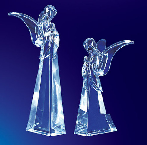 """Pack of 4 Icy Crystal Religious Christmas Butterfly Angel Figurines 7.5"""" - 31002271"""