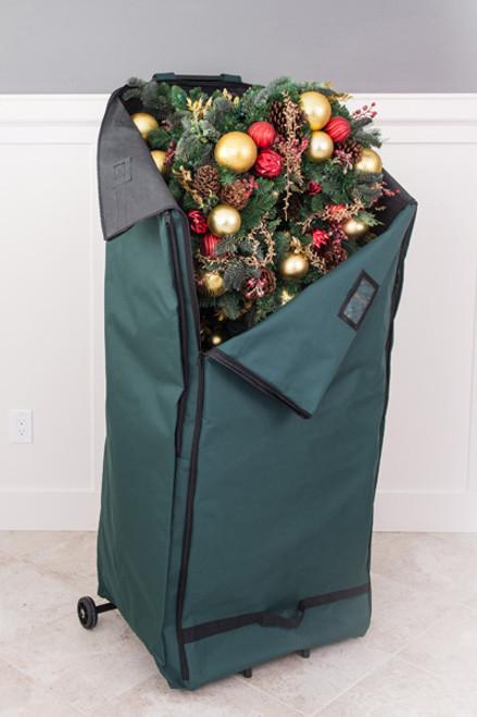 ... Christmas Garland U0026 Wreath Protective Deluxe Rolling Storage Bag    Holds 4 Large Garlands U0026 2 ...
