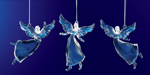"Club Pack of 36 Icy Crystal Religious Christmas Dancing Angel Ornaments 3.5"" - 31002171"