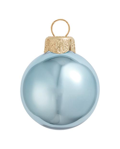 "8ct Shiny Sky Blue Glass Ball Christmas Ornaments 3.25"" (80mm) - 30939832"