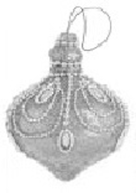 """4.5"""" Silver Spendor Jewel and Bead Encrusted Glitter Onion Finial Christmas Ornament - 30790166"""