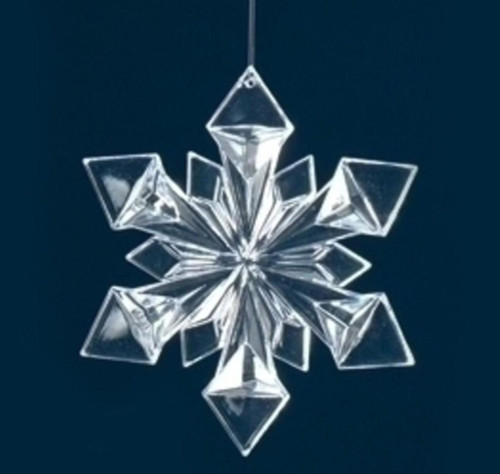 """4.75"""" Icy Crystal Clear Snowflake Christmas Ornament - 31420831"""