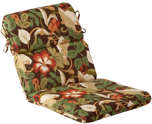 Outdoor Patio Furniture High Back Chair Cushion - Floral Cafe - 13347287