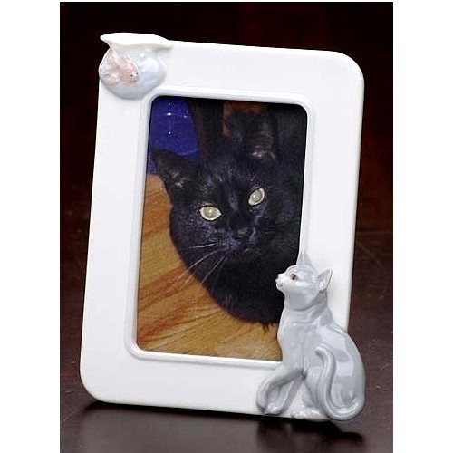 Club Pack of 12 Handcrafted Porcelain Cat & Fish 4x6 Photo Picture Frames #47043 - 6372274