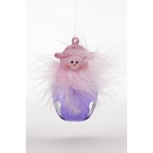 Club Pack Of 24 Pink Hat Lady Jingle Buddie Christmas Ornaments - 4548090