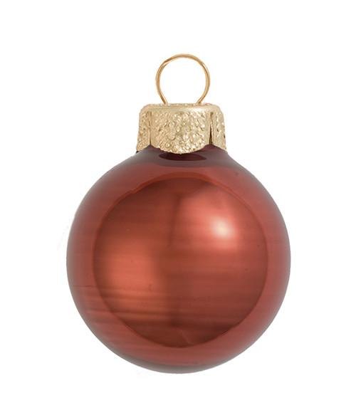 "4ct Pearl Chocolate Brown Glass Ball Christmas Ornaments 4.75"" (120mm) - 30939980"