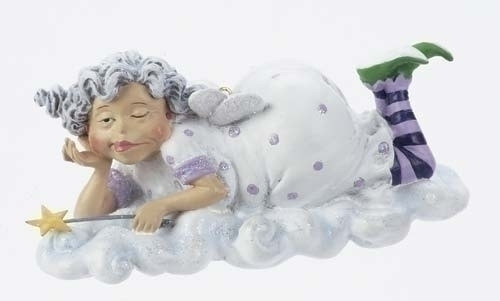 """4"""" Funny Over the Hill Happy Birthday Fairy Christmas Ornament #23362 - 6373912"""
