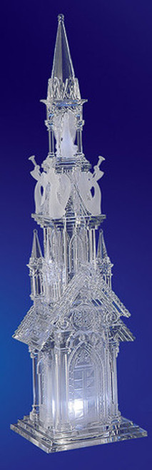 "Pack of 2 Icy Crystal Decorative Religious Five Angel Cathederal Figurines 18.8"" - 31002122"