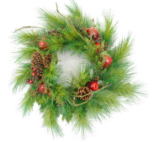 "24"" Apple, Berry & Pine Cone Artificial Christmas Wreath - 6567411"