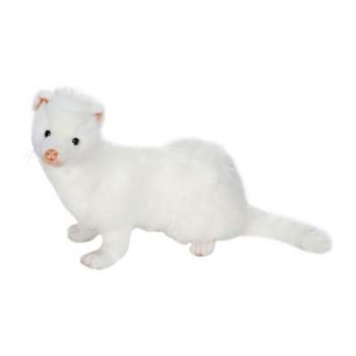"Pack of 2 Life-like Handcrafted Extra Soft Plush White Ferret Stuffed Animals 12.5"" - 31068834"