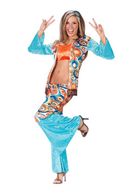 Groovy Hippie Women's Adult Halloween Costume Size Small/Medium (2-8) #1050 - 6048006