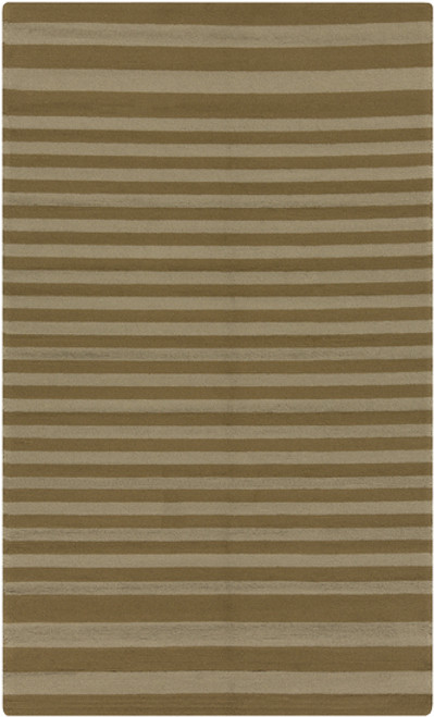 2' x 3' Capras Score Olive Green and Ivory Hand Hooked Outdoor Area Throw Rug - 30992324