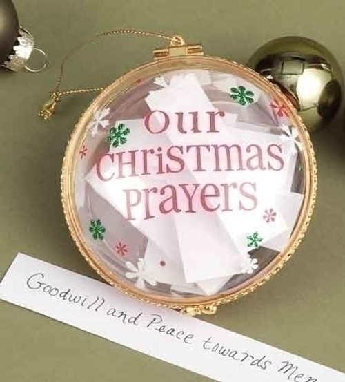 "3.75"" Tis the Season ""Our Christmas Prayers"" Clasped Disc Ornament - 17029208"
