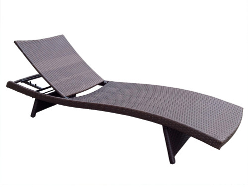 ... 4 Adjustable Espresso Resin Wicker Patio Chaise Lounge Chairs   Brown  Cushions   31556482 ...