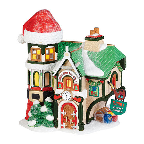 "Department 56 North Pole Toy Land ""Santa's North Pole Office"" Porcelain Lighted Building #4036540 - 31421821"