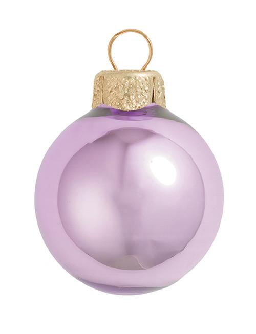 "8ct Pearl Soft Lavender Purple Glass Ball Christmas Ornaments 3.25"" (80mm) - 30939813"