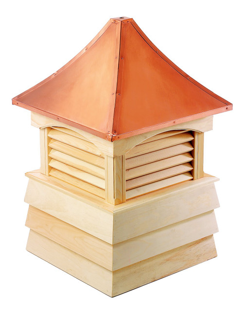 "69"" Handcrafted Wooden ""Sherwood"" Cupola Copper Roof - 30874416"