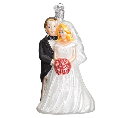 Old World Christmas Bridal Couple Wedding Ornament #10163 - 6079438