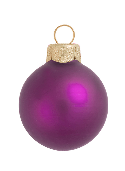 "4ct Matte Soft Rose Pink Glass Ball Christmas Ornaments 4.75"" (120mm) - 31356059"