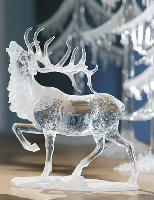 """Pack of 4 Icy Crystal Decorative Caribou Figurines 8"""" - 31002120"""